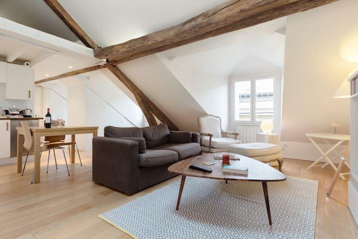Under the roof in latin quarter / Saint Germain - Paris - Apartemen