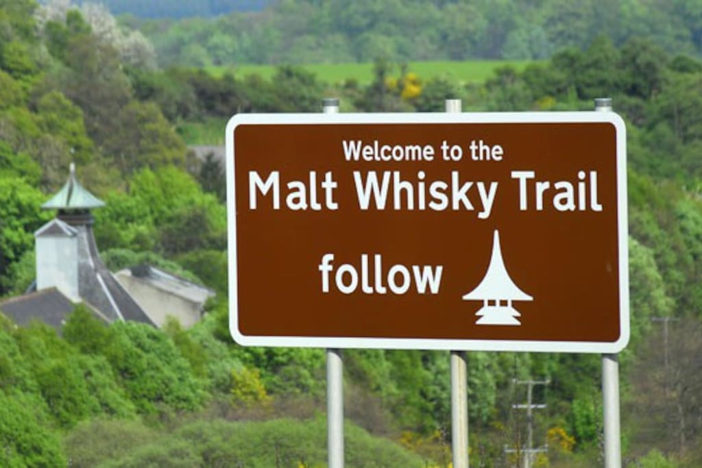Glenarder located right on the Malt Whisky Trail. Only 2 Kms from the nearest distillery, Cardhu and Tamdhu. 6 km's from Macallan's, Glenfarclas, 10km's from Glenfiddich, Glenlivet, Aberlour, Balvenie and many, many more.