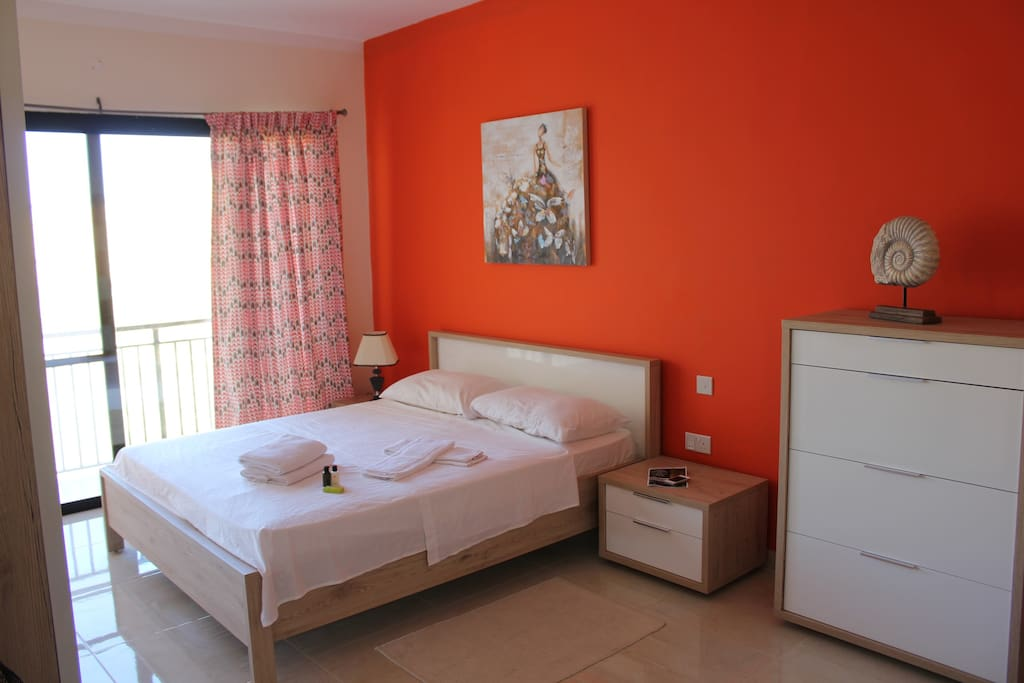 Beautiful bedroom with double bed and your own small bathroom with shower