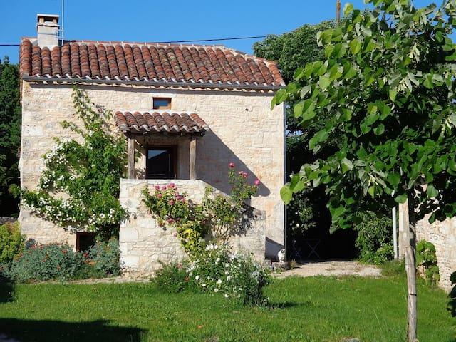 une petite maison  avec des chevaux - Escamps - House