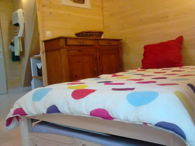 Chambre avec salle de bain privée - Aiguillon - Hus