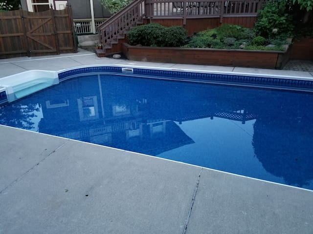 Pool in yard