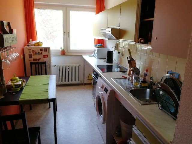 Spacious apartment with balcony in Erlangen, Bruck