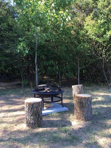 Enjoy an evening campfire. Complimentary wood is provided.