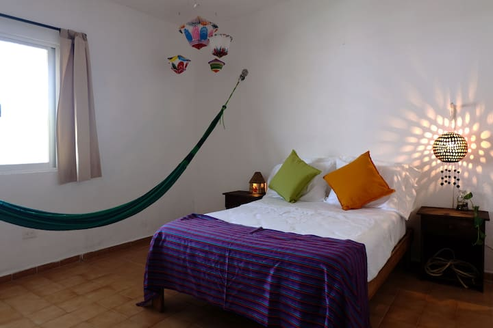 Sleep in heaven! Mayan Hammock and Bed with 6 pillows
