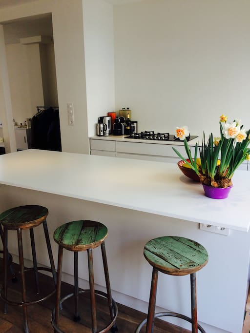 Our lovely kitchen, enjoy your breakfast and a good cup of coffee.