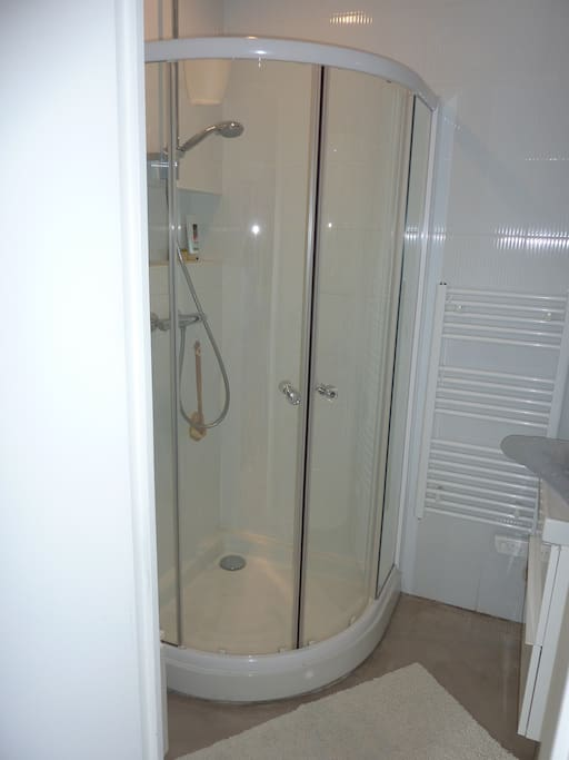 Douche de la salle de bain privative