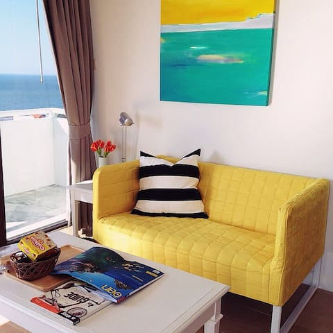 Sea view studio 1401 Bed & Beach - Tambon Saen Suk, Ampur Muang Chonburi - Leilighet