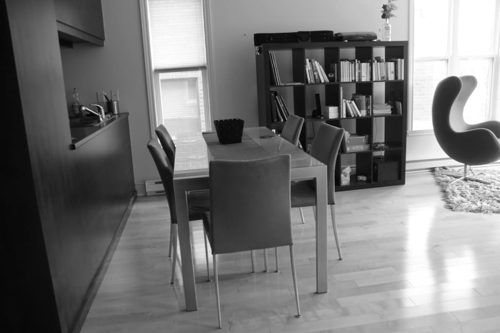 Open space dining room