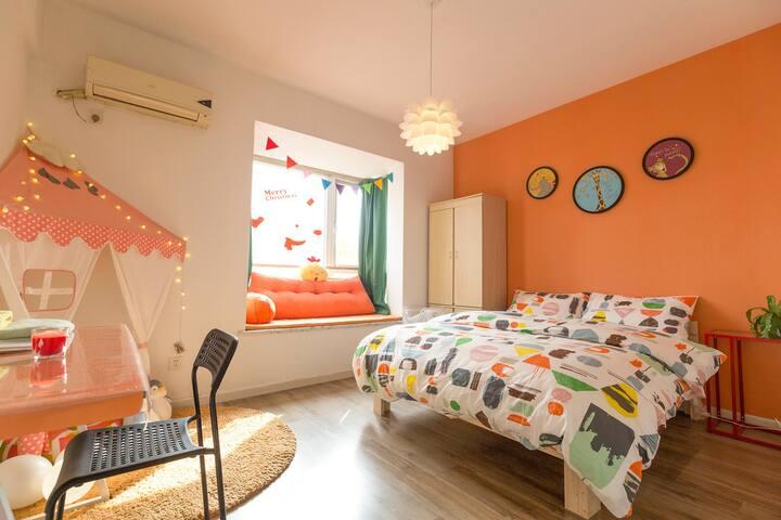 【奶瓶小屋】宽窄巷子旁2号4号线温馨童趣舒适主题独立房间1 - Chengdu - Apartment