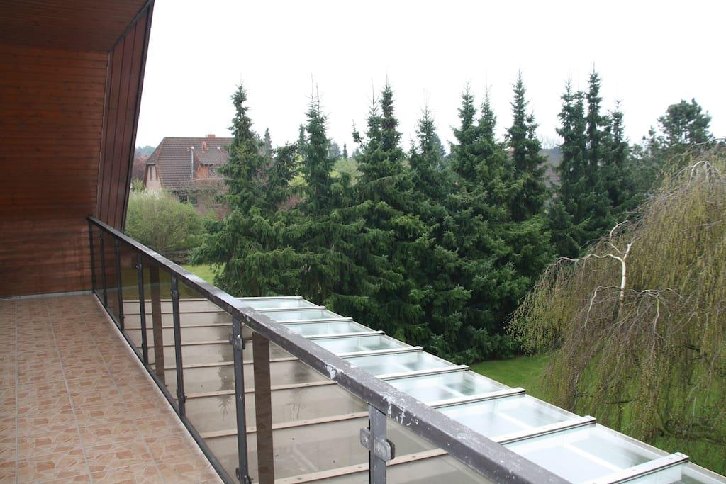 Ein Blick von der Loggia nach Osten.