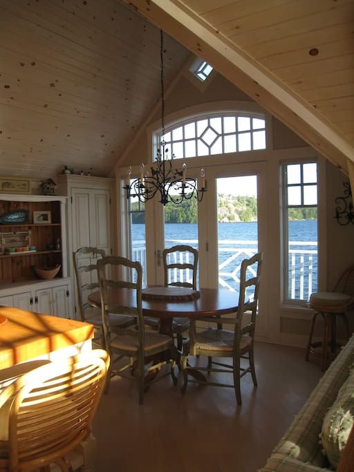 Dining area of boathouse