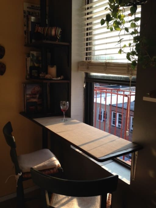 window & countertop in the kitchen