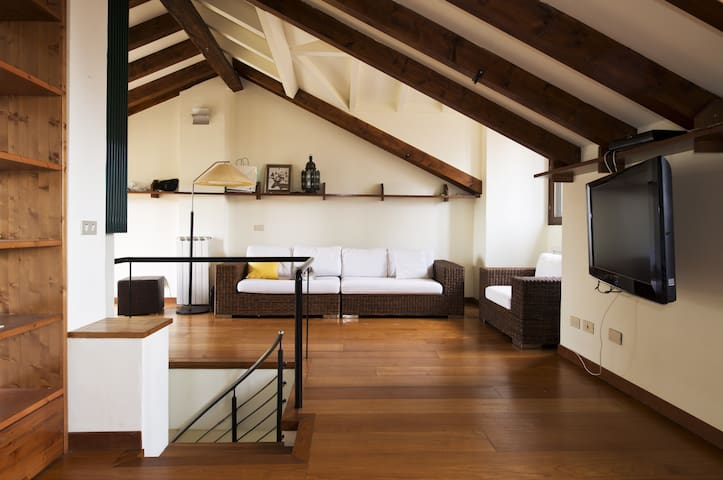 Attic-Duplex: view, design, Brera-Isola