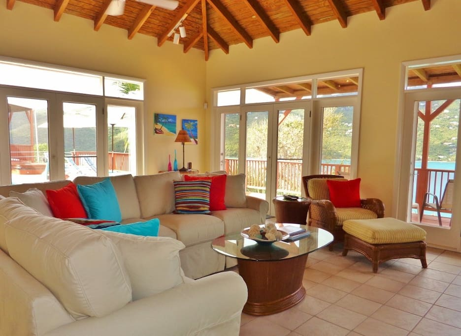 Enjoy the view and indoor/outdoor living from the spacious living room