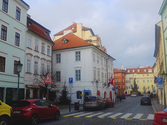 THE HOUSE IS SITUATED NEXT TO THE DANISH EMBASSY AND THE JAPANESE EMBASSY.
