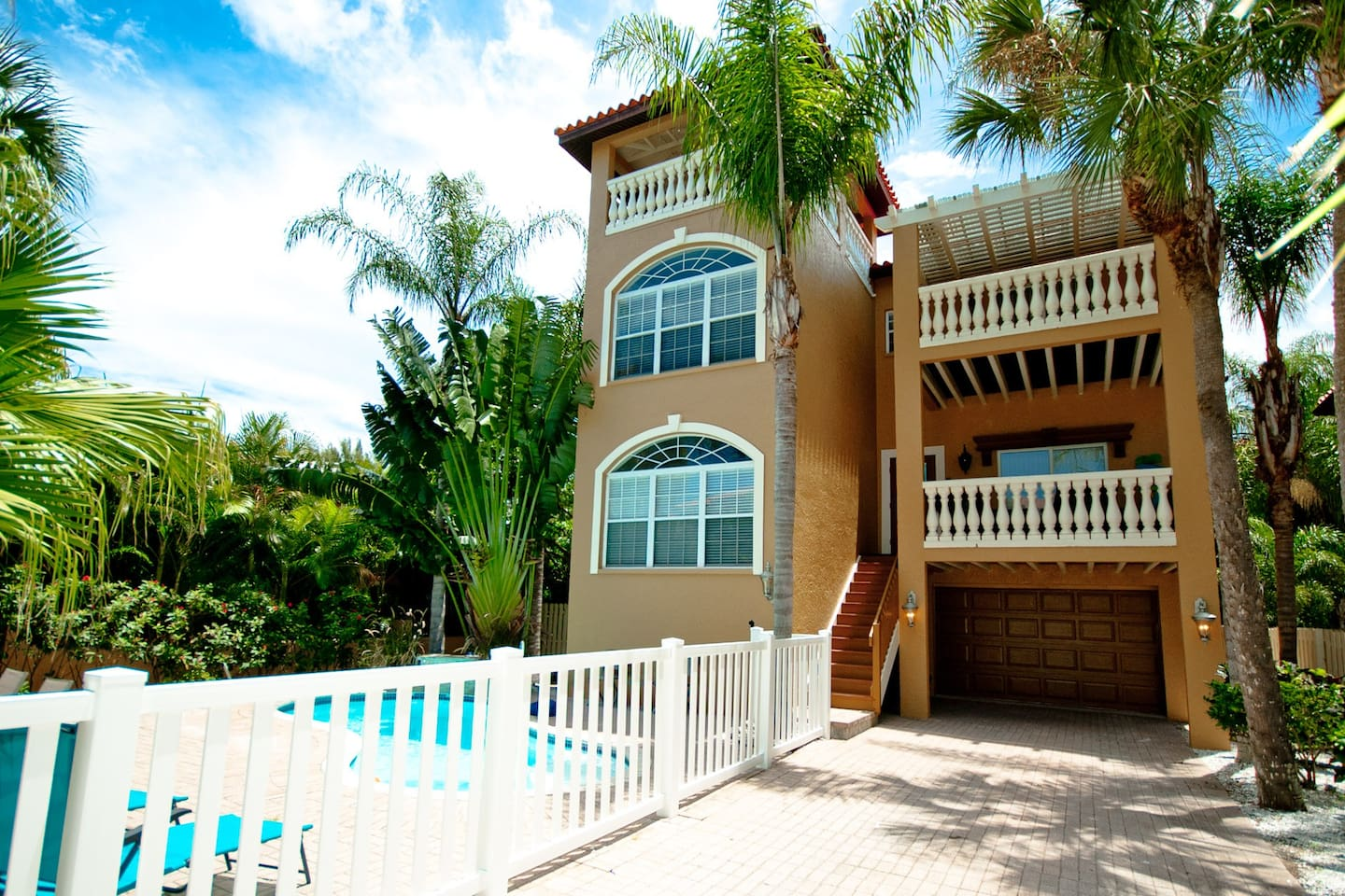 This spacious, 3-story beach home with a private pool & comfortable outdoor living spaces will help you make the most of your trip to beautiful Anna Maria Island. Third floor balcony overlooks the private pool, and gives glimpse to the gulf & bay.