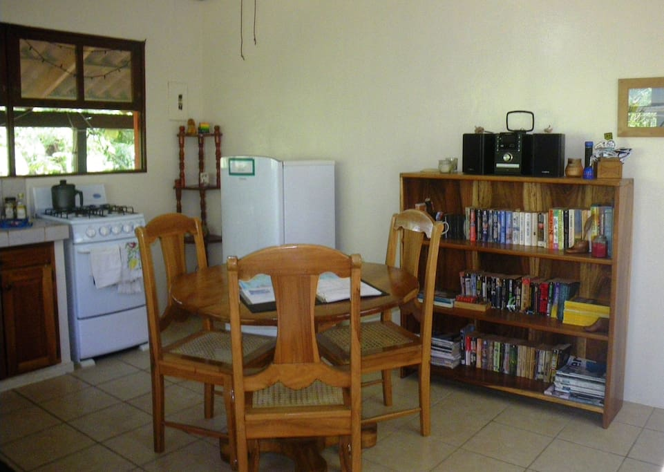 Living area of the Casita del Bosque