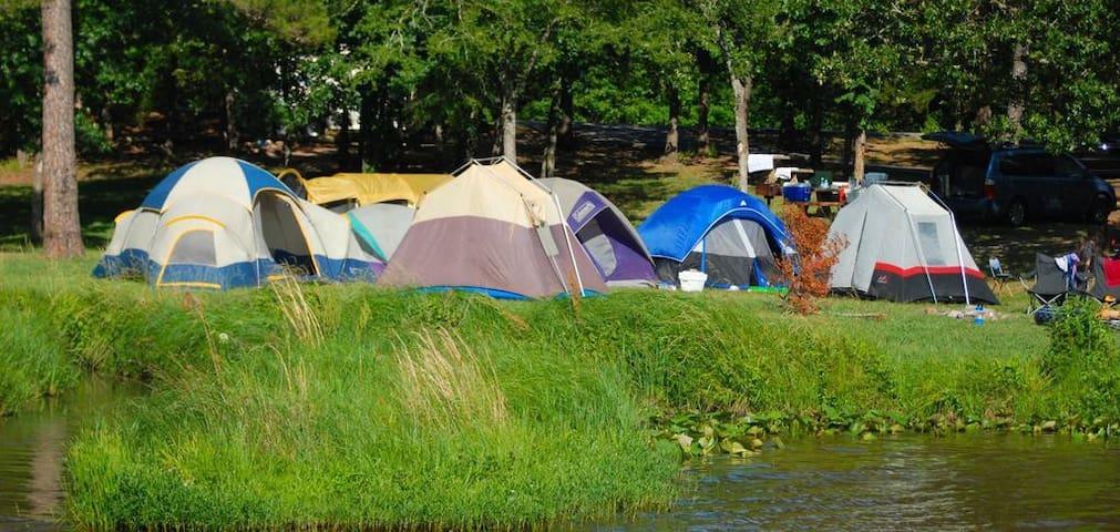 Camping tent inside a resort at  Nongrah Umroi Shillong Meghalaya