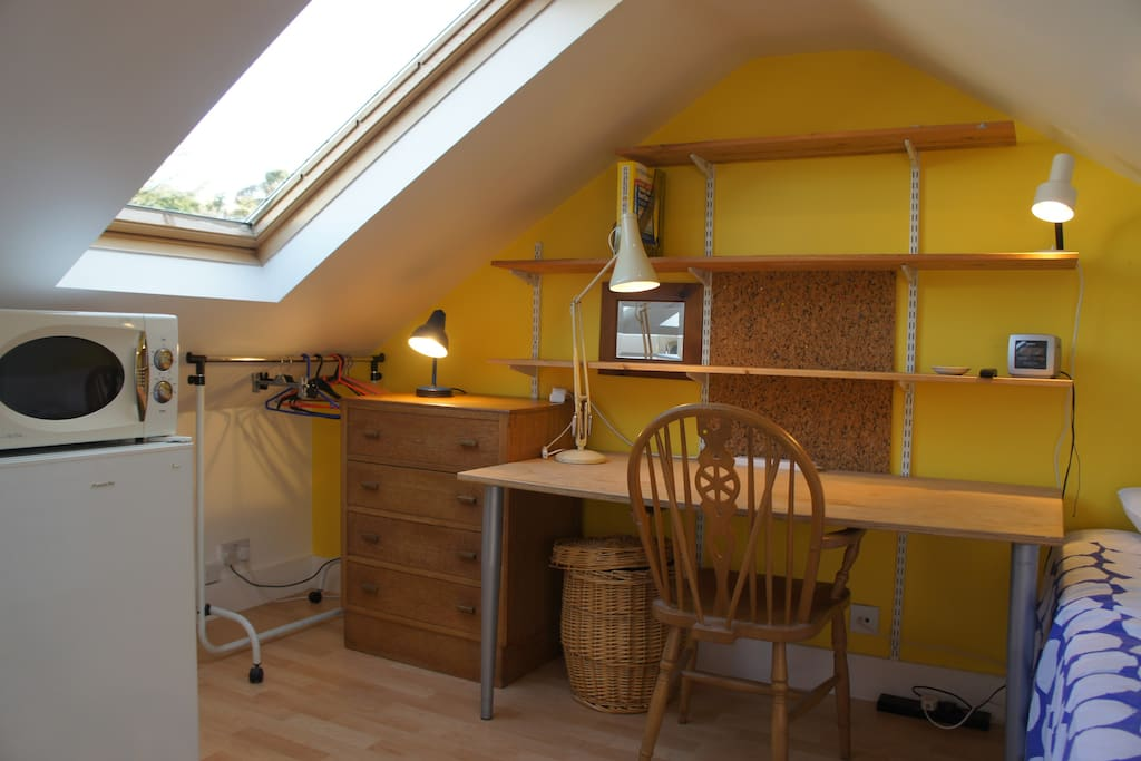 another view of this fabulous loft conversion with desk/table