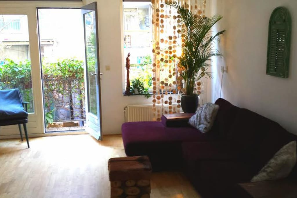 Our 'extension' of the living room: a nice garden!