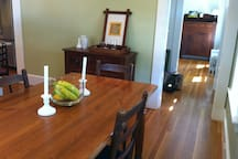 Dining room table.  Seats, 4-6.