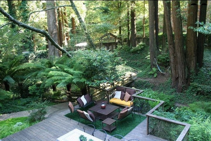 Nestled in Redwoods, Easy Walk to Town,Close to SF