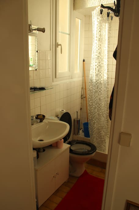 Salle de bain propre et ventilée