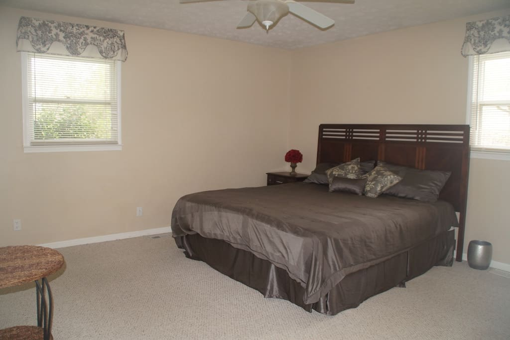 Bedroom 1 with King Bed and attached bathroom