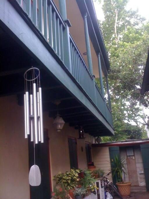 exterior facing courtyard