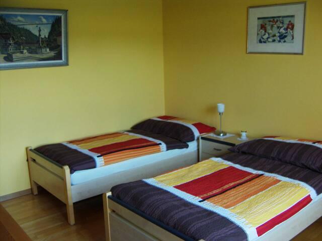 Deux lits confortables et modulables