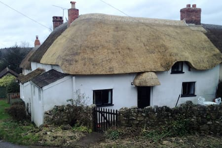 Thatched cottage in Dorset hamlet. - Dorset