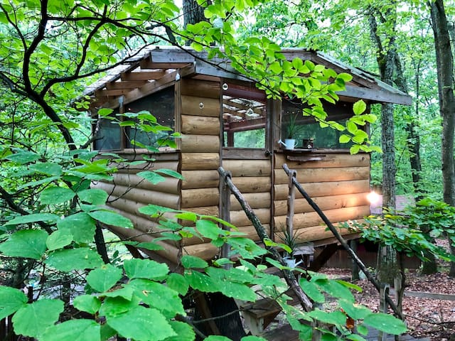 Tiny Tree House Cabin Glamping