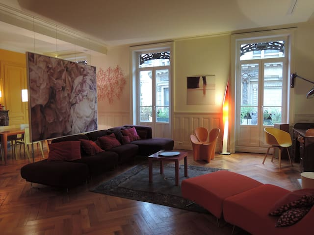 Design apart, Center, 5 bedrooms, Large balcony - Lyon - Daire