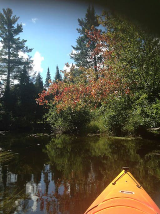 Kayak or canoe the 3 chain lakes and 2 rivers! hours of enjoyment!