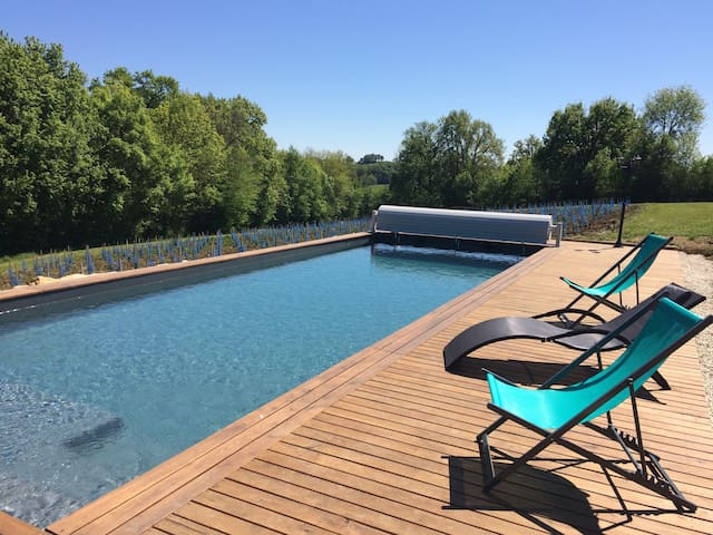 Dordogne Valley: Heated pool & jacuzzi 4-8 people. - Ligneyrac  - Natuur/eco-lodge