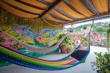Relax on a hammock!