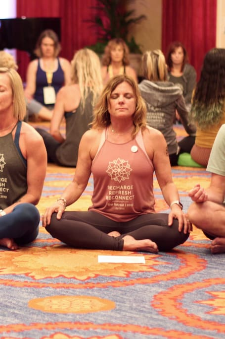 Group Meditation at Omni La Costa Resort