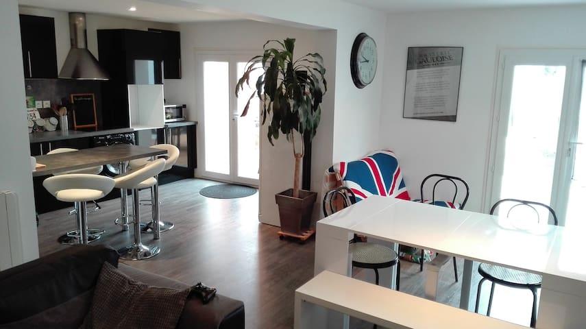 Agréable appart en rdc à 8 min Sud de Clermont Fd - Le Cendre - Lägenhet