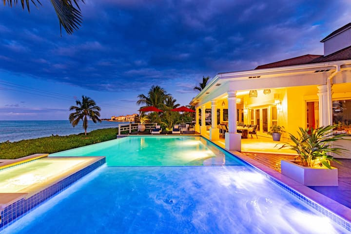 Villa Northwinds with Guest Cottage - Private Pool Oceanfront