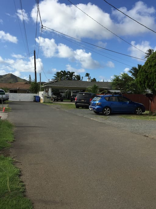 From Kalama Street, drive DOWN LANE to last house on right.
