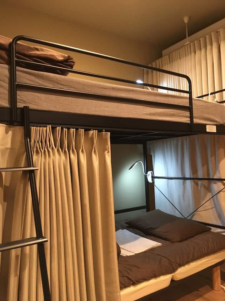 Female dorm at zen hostel(京都駅から徒歩3分)