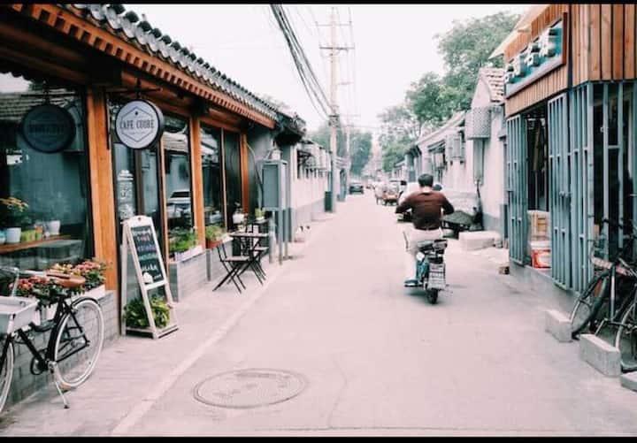 长住特惠6皇城中心真正的北京生活,散步去后海中戏(周边故宫剧院天安门等)网红设计师全能迷你loft