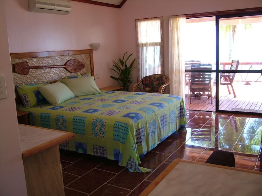 Very spacious room looking out on the beautiful beach.