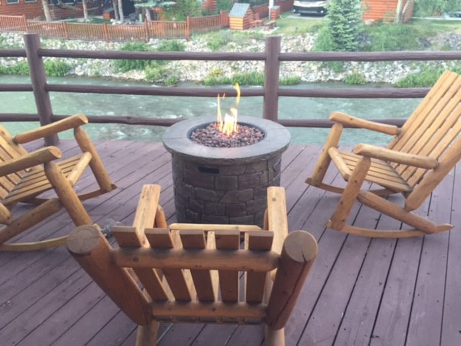 There's plenty of outdoor living on the spacious deck.