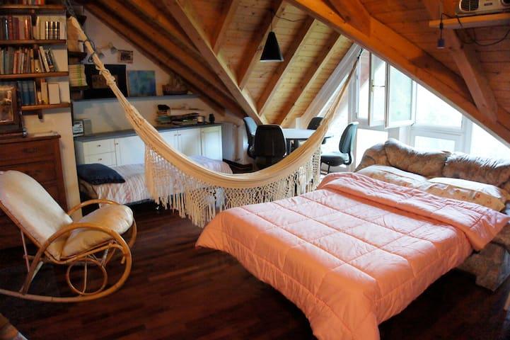 ampia luminosa mansarda con bagno - Tradate - Bed & Breakfast