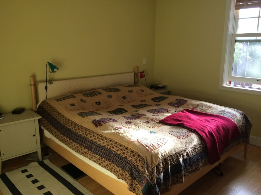 Bedroom #1 with king size bed.
