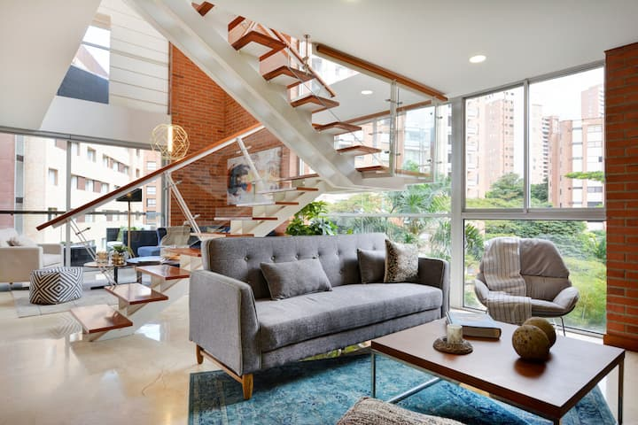 Modern Designer Duplex near to Parque Lleras