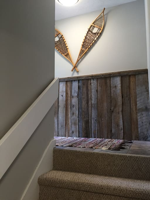 Barn wood accents throughout