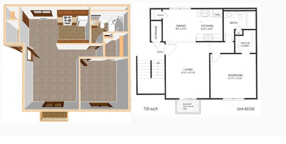 Entire apartment in very convenient location